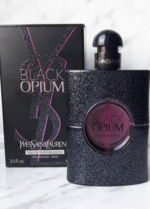 Black opium neon yves saint laurent парфюмированная вода на распив