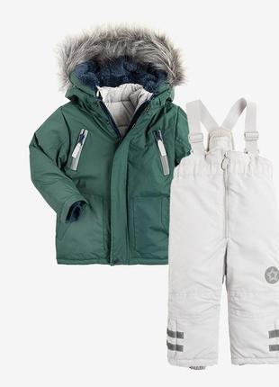 Фирменный костюм (3 в 1 зимняя куртка, жилет, демисезонная куртка), штаны комбинезон
