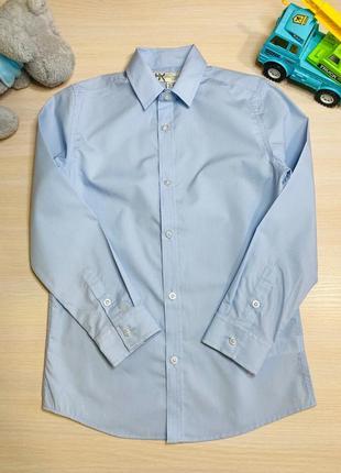 Рубашка голубая bhs 9-10 лет
