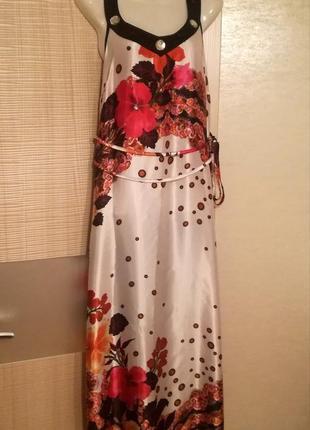 Sale!! женственное очень красивое лёгкое платье макси в пол с цветами dolce bella
