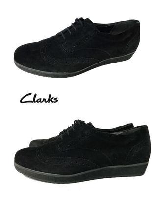 3625 туфлі clarks uk5,5d eu 38 замш сток