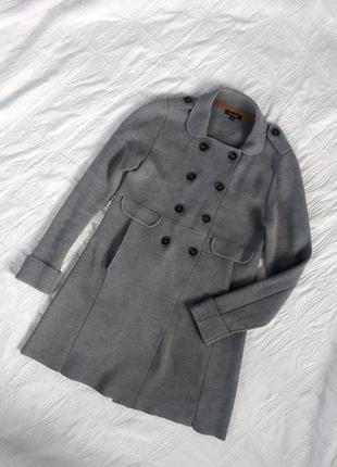 Базовое шерстяное пальто осеннее весеннеее massimo dutti