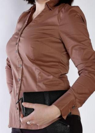 Базовая коричневая рубашка mexx