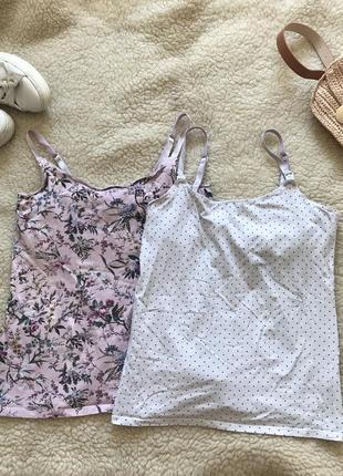 Майка набор комплект маечка футболка для беременных кормления кормящих