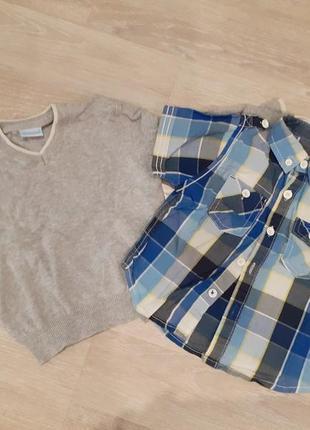 Пуловер+рубашка