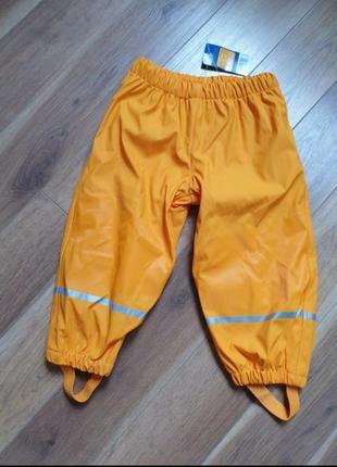 Lupilu штаны грязепруф дождевик на флисе 86/92 р на 12-24 мес.