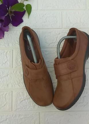 〰️ кожаные туфли мокасины hotter р 41-41,5 англия