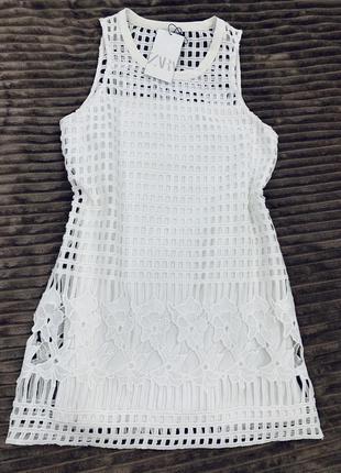 Белое кружевное платье zara