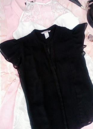 Блузка топ шифоновый с рюшами оборками