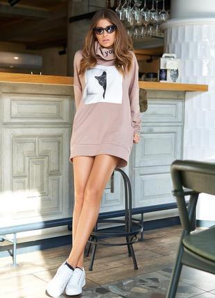 Распродажа!!! стильное хлопковое платье-худи * отличное качество