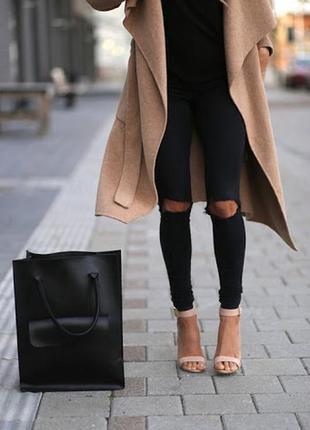 1+1=3 зауженные узкие женские джинсы скинни высокая посадка bershka, размер 42 - 44