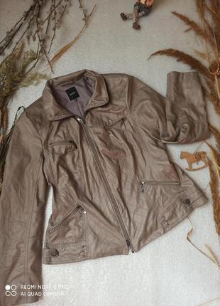Серая куртка косуха размер l-xxl