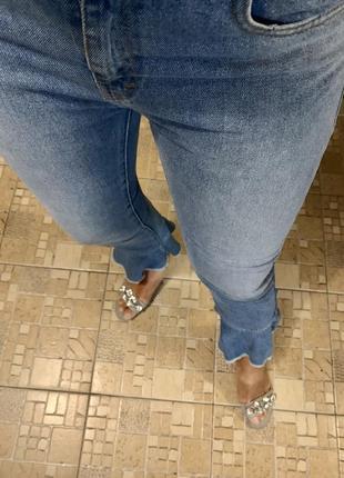 Джинсы 👖 мом джинсы denim 💯 % катон от zara