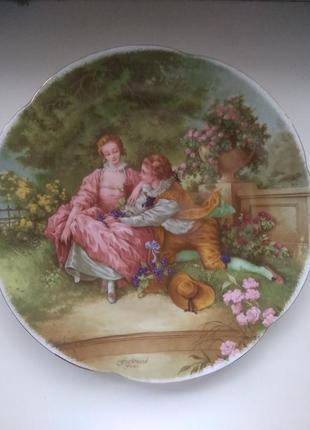 Тарелка декоративная коллекционная фарфоровая германия
