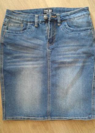 Джинсовая юбка (не секонд хенд)