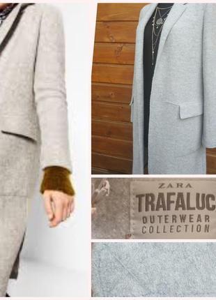 Фирменное стильное качественное натуральное пальто букле из шерсти