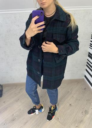 Пальто-рубашка bershka