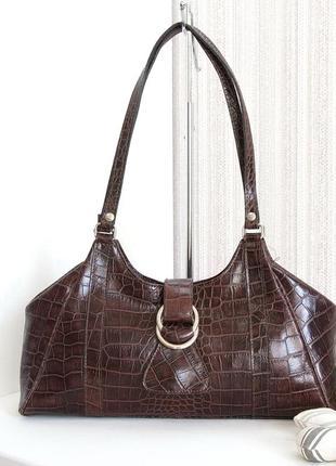 Элегантная сумка, италия, натуральная кожа