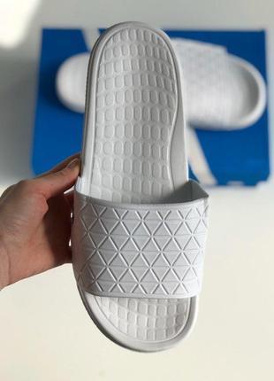 Шлёпки adidas white