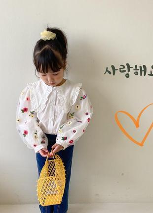 Очень красивая блуза/рубашка в школу