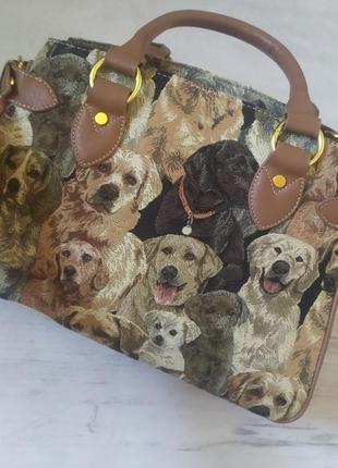 Сумка с принтом собаками