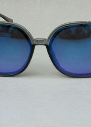 Christian dior очки женские солнцезащитные большие зеркальные бензин фиолетовые
