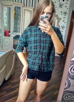 Рубашка блуза блузка у клітинку