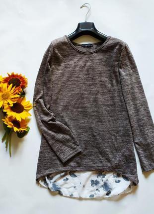 Легкий свитер трикотажная блуза с длинными рукавами