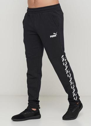 Черные демисезонные брюки puma amplified pants tr ( оригинал )
