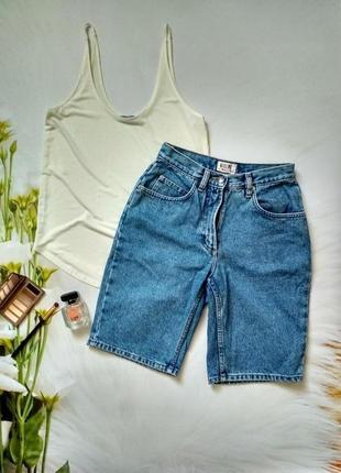 Шорти джинсові висока посадка