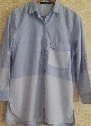 Очень красивая и стильная котоновая рубашка от zara