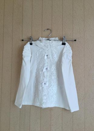 Блуза трикотажная для девочки на рост 116-122