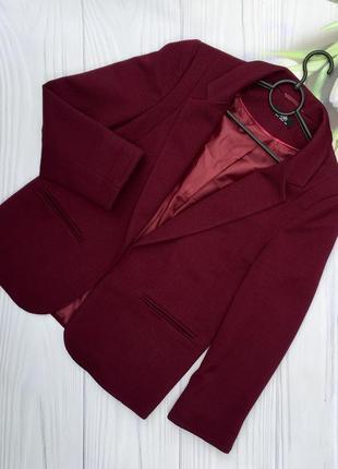 Стильный бордовый пиджак wallis