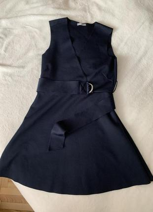 Темно синее платье zara размер м