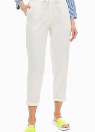 Белые брюки vero moda лён и вискоза