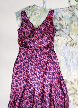 ❤️атласное платье в яркий принт