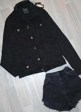 Графитовая джинсовка, джинсовая куртка