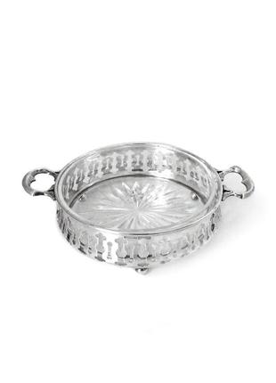 Серебряная масленка, икорница или вазочка. англия.
