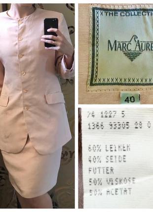 Распродажа дизайнерский элегантный костюм шёлк и лён с юбкой