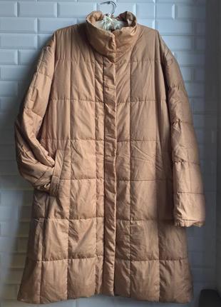 Пальто пуховик длинный зимний зима тёплый