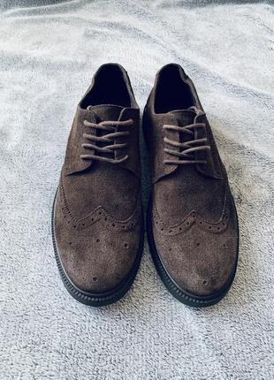 Ботинки из натурального замша