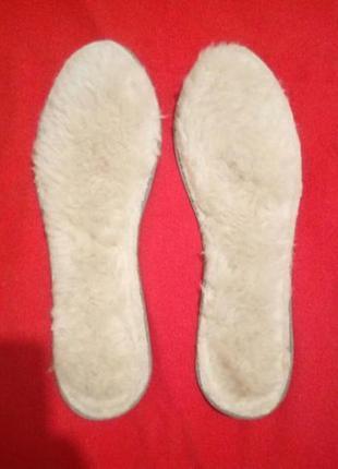 Стельки меховые для любой обуви, новые
