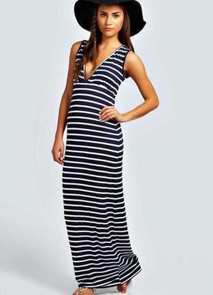 Boohoo. силуэтное платье в полоску uk 8 на наш 42-44 новое.