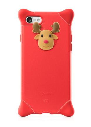 Чехол для iphone 7/8 bubble silicone deer red