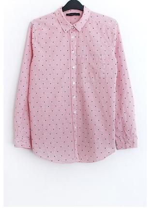 Хлопковая рубашка marks&spencer • р-р  l-xl