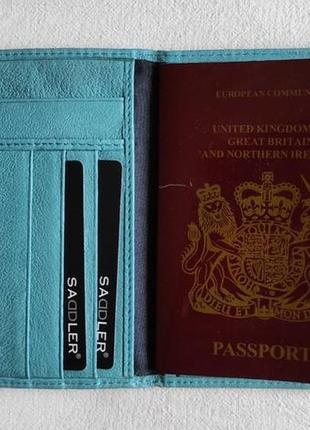 Кожаная обложка на паспорт saddler