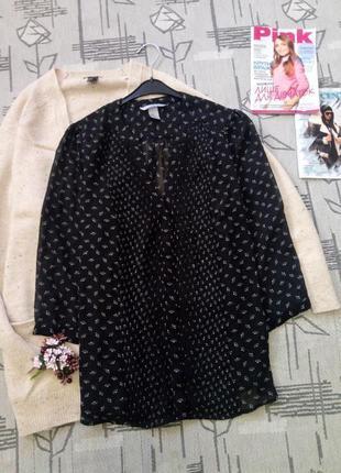 Скидка!!!красивая шифоновая блуза, размер 12-14