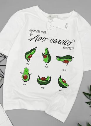 Крутая футболочка avo-cardio от stradivarius футболка с авокадо