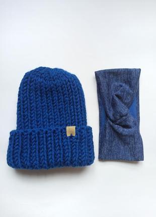 Комплект шапка + повязка на голову