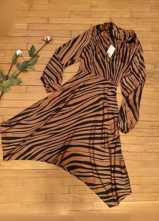 Платье next размер 14 тигровый принт